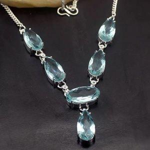 Jewelry - 💠 STUNNING AQUA TOPAZ➕STERLING NECKLACE 💠